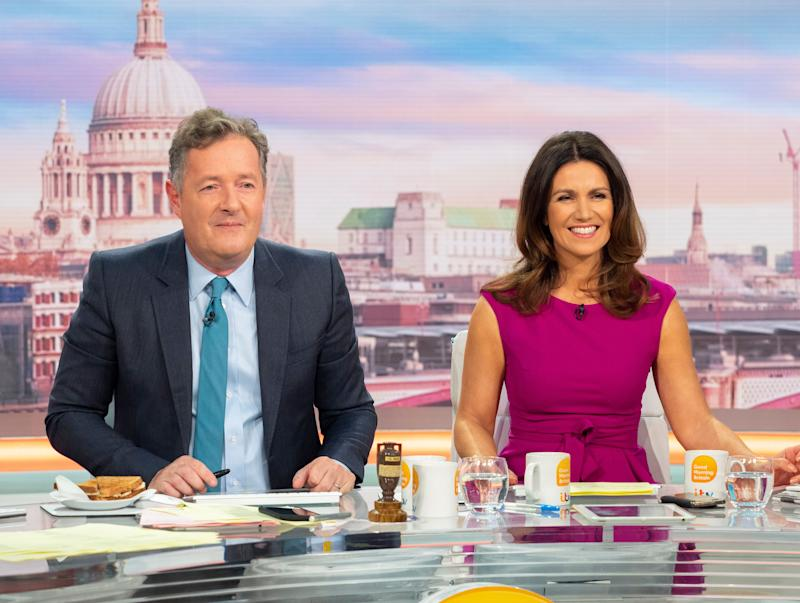 Piers Morgan hosts 'Good Morning Britain' with Susanna Reid. (ITV)