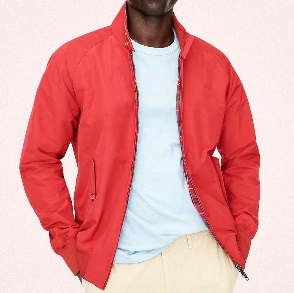 """<p class=""""body-dropcap"""">When the weather drops and the air is crisp, nothing finishes off a fit for fall quite like the best jackets. (Ditto <a href=""""https://www.esquire.com/style/mens-fashion/g2014/best-winter-coats/"""" rel=""""nofollow noopener"""" target=""""_blank"""" data-ylk=""""slk:fall coats"""" class=""""link rapid-noclick-resp"""">fall coats</a>.) They not only insulate, but, more importantly, impart a sense of self. Take, for example, James Dean in <em>Rebel Without Cause</em>. The iconic <a href=""""https://www.esquire.com/style/mens-fashion/a11588/james-dean-red-jacket-for-sale-6542621/"""" rel=""""nofollow noopener"""" target=""""_blank"""" data-ylk=""""slk:cherry-red windbreaker"""" class=""""link rapid-noclick-resp"""">cherry-red windbreaker</a> he wore in the angst-fueled teen flick conveyed a lot about his character. He was an outsider, standing out amongst the sea of black, brown, and blue that his peers wore. He outwardly spoke—even cried—about yearning for acceptance, but his id and his impulses, as demonstrated by his eye-catching jacket, proved otherwise.</p><p>Yes, I am waxing philosophic in a round-up of the best fall jackets. I tend to do that sometimes, but, dear reader, no lies were told. The type of topper you wear lets people know the kind of guy you are—or might want to be—from the jump. It's the first impression and, oftentimes, the lasting one. So, before you reach for any ol' thing, make sure to pick the style that is right for you. Because, as you can imagine, the options abound.</p><p>From bombers in every conceivable fabric and anoraks in a spectrum of colors to field and motorcycle jackets with the same scope, you have the ability to tell your own story concisely with a single item. If you're a rebel, take a page from Jimmy Dean and opt for a bright windbreaker. Are you artistically inclined? There are a slew of jackets with eye-catching prints or appliqués. But if you're more laid-back dude, denim or a classic coach's jacket will do nicely. To help narrow down your search, we corral"""