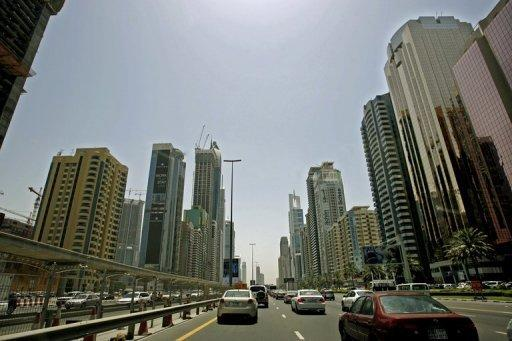 A picture from April 27, 2008 shows buildings in Dubai