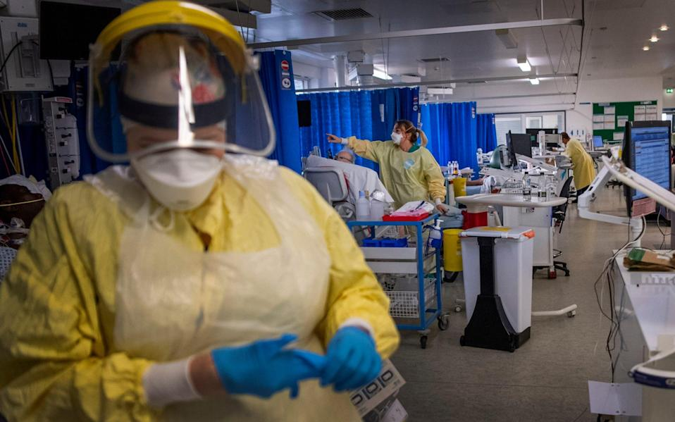 A more infectious strain of the virus has exacerbated the crisis in hospitals with health workers and bed occupancystretched tobreaking point.