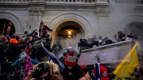 PHOTO: Trump supporters clash with police and security forces as people try to storm the US Capitol on Jan. 6, 2021, in Washington. (Brent Stirton/Getty Images, FILE)