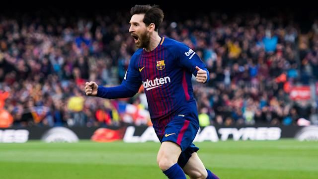 Lionel Messi scored his 600th career goal as Barcelona moved eight points clear in LaLiga with a 1-0 win over Atletico Madrid at Camp Nou.