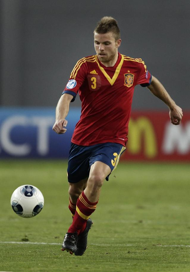 Spain's Asier Illarramendi controls the ball during a European U21 Soccer Championship semi-final match against Norway in Netanya, Israel, Saturday, June 15, 2013. (AP Photo/Bernat Armangue)