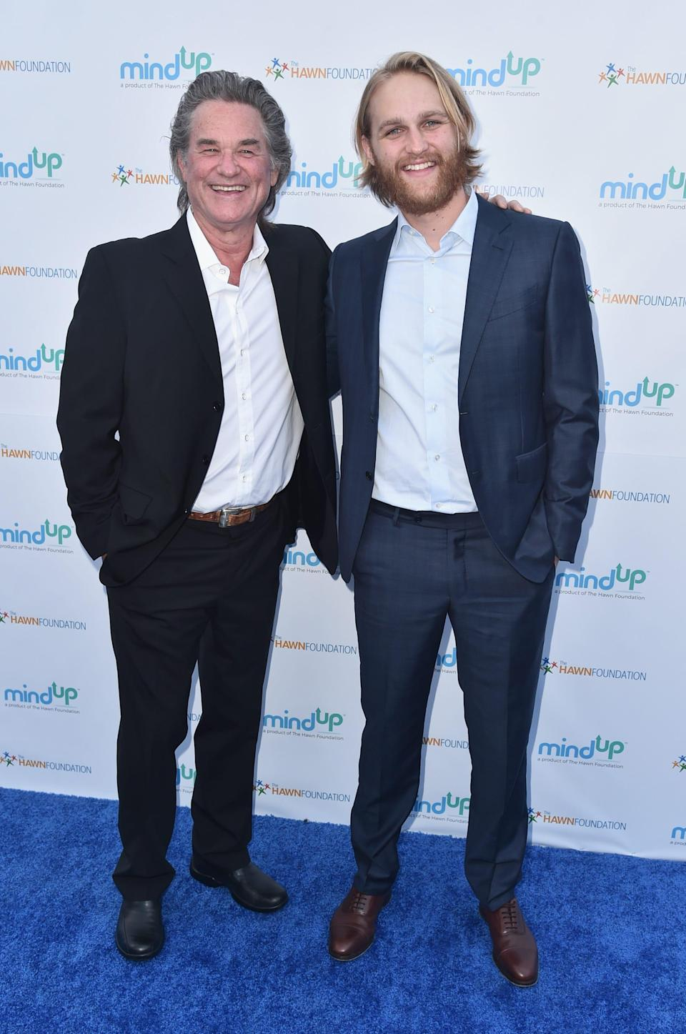 Kurt (left) and son Wyatt Russell now are both a part of the Marvel Cinematic Universe.