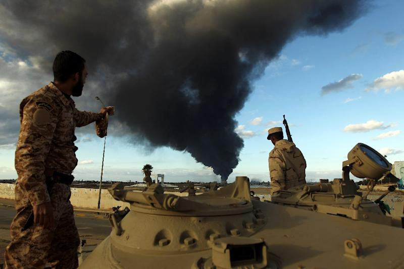 The chaos that followed Moamer Kadhafi's ouster in 2011 has seen mounting competition with armed groups battling for control of Libya's vast energy resources (AFP Photo/Abdullah Doma)