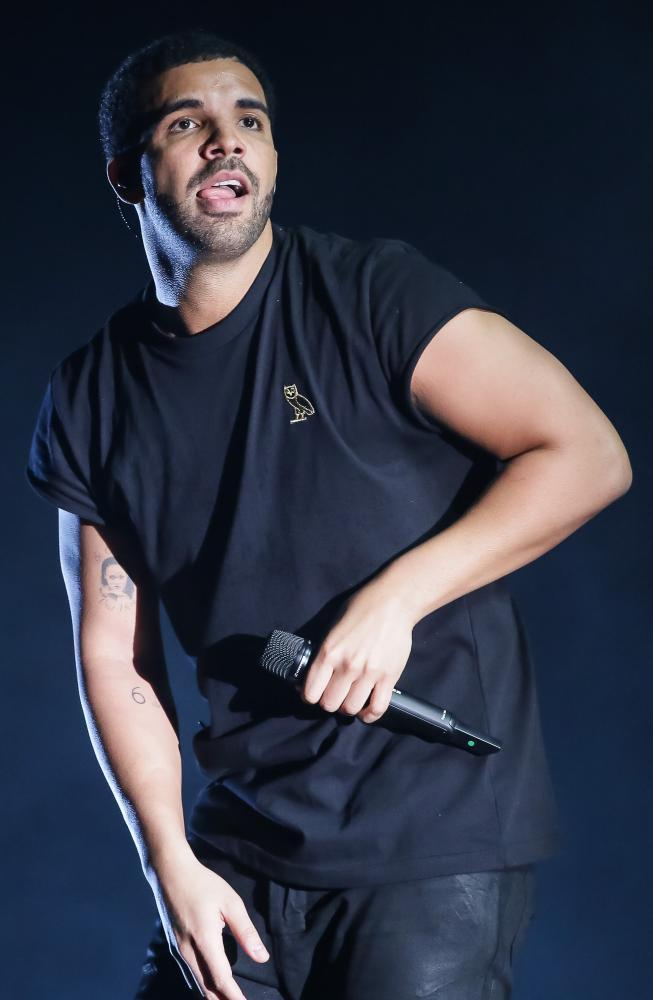 Singer Drake performs at the Coachella Valley Music and Arts Festival in 2015.