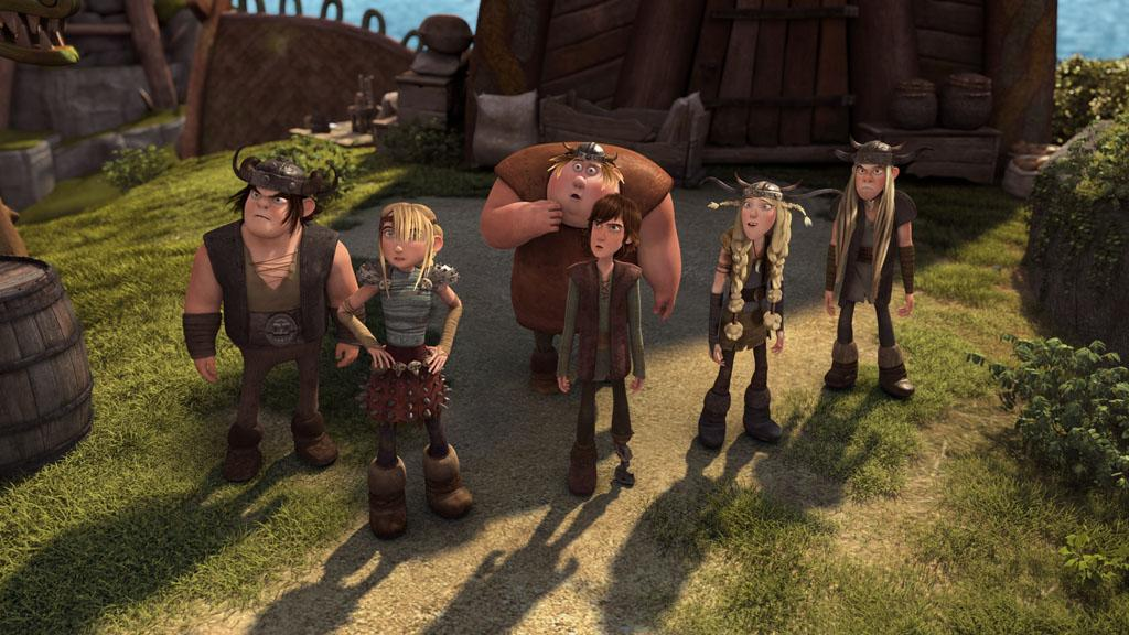 """DreamWorks Dragons: Riders of Berk"" features an all-star line-up of voice talent including Zach Pearlman as Snotlout, America Ferrera as Astrid, Christopher Mintz-Plasse as Fishlegs, Jay Baruchel as Hiccup, Julie Marcus as Ruffnut and T.J. Miller as Tuffnut."
