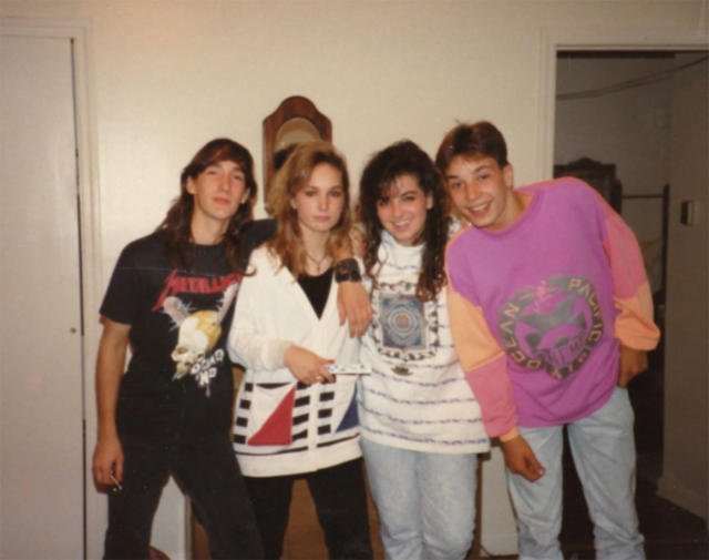 """<p>The future host of <i>The Tonight Show</i> gave us serious """"#SquadGoals"""" with this snapshot. The OP shirt and the light denim jeans are early-'90s perfection. (Photo: <a href=""""https://twitter.com/jimmyfallon/status/913819544438878214"""" rel=""""nofollow noopener"""" target=""""_blank"""" data-ylk=""""slk:Jimmy Fallon via Instagram"""" class=""""link rapid-noclick-resp"""">Jimmy Fallon via Instagram</a>) </p>"""