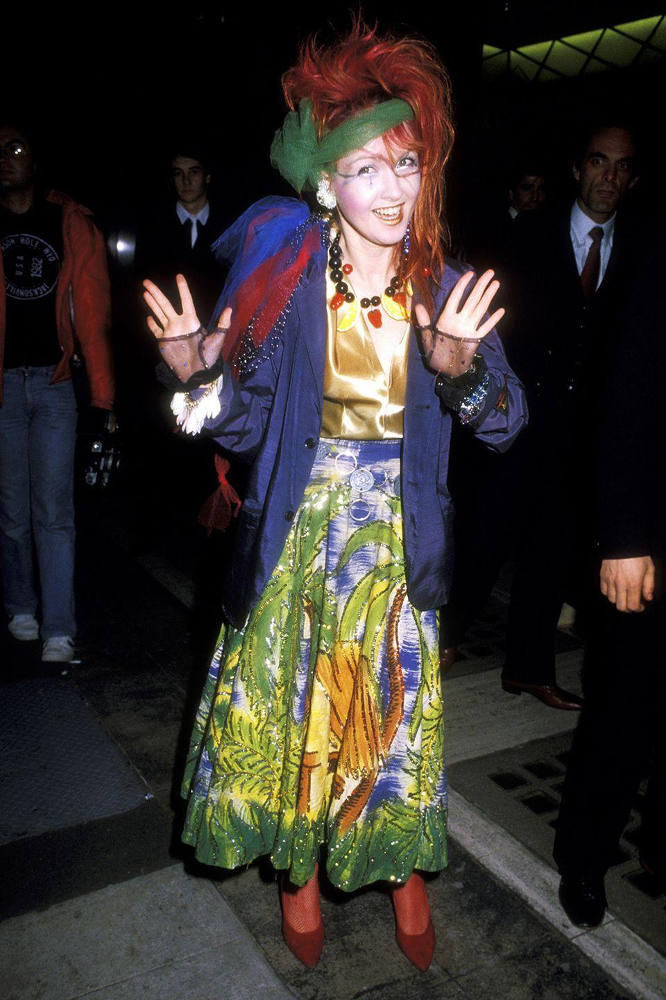 <p>In all fairness, this was actually a pretty standard look for Cyndi Lauper back in the day.</p>