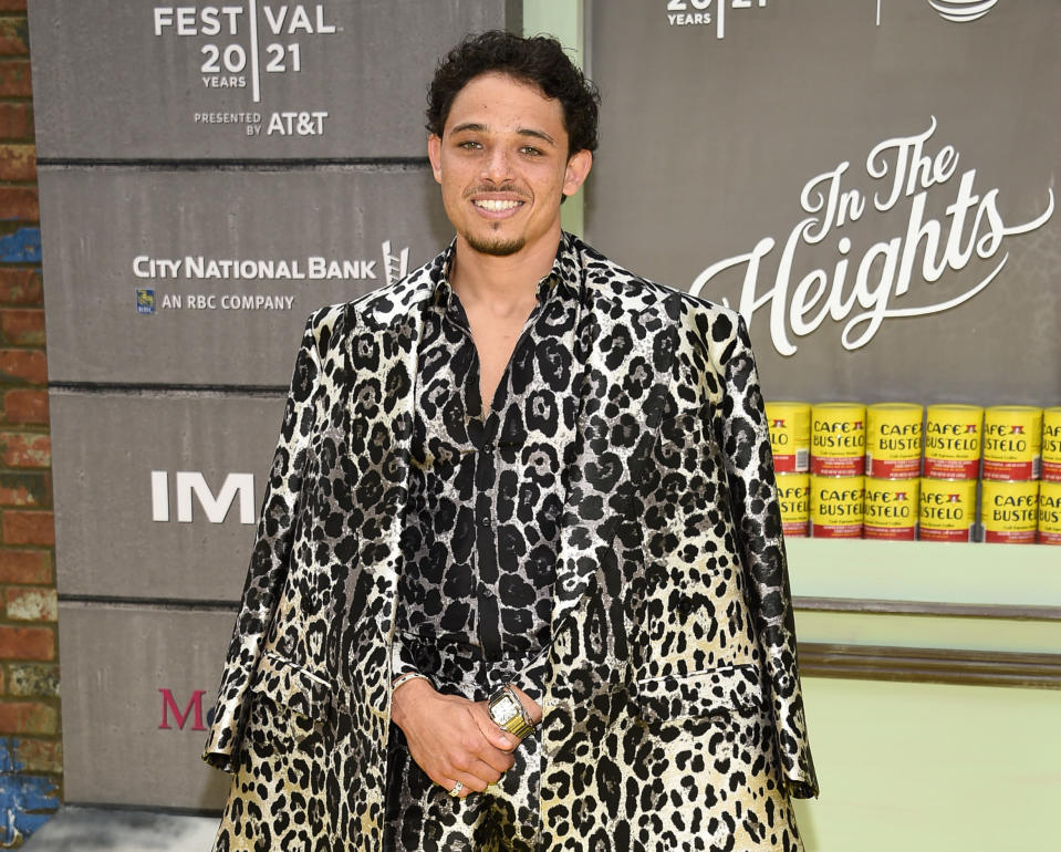 """FILE - Actor Anthony Ramos attends the 2021 Tribeca Film Festival opening night premiere of """"In The Heights"""" on June 9, 2021, in New York. Ramos released an album """"Love And Lies,"""" on Friday, June 15. (Photo by Evan Agostini/Invision/AP, File)"""