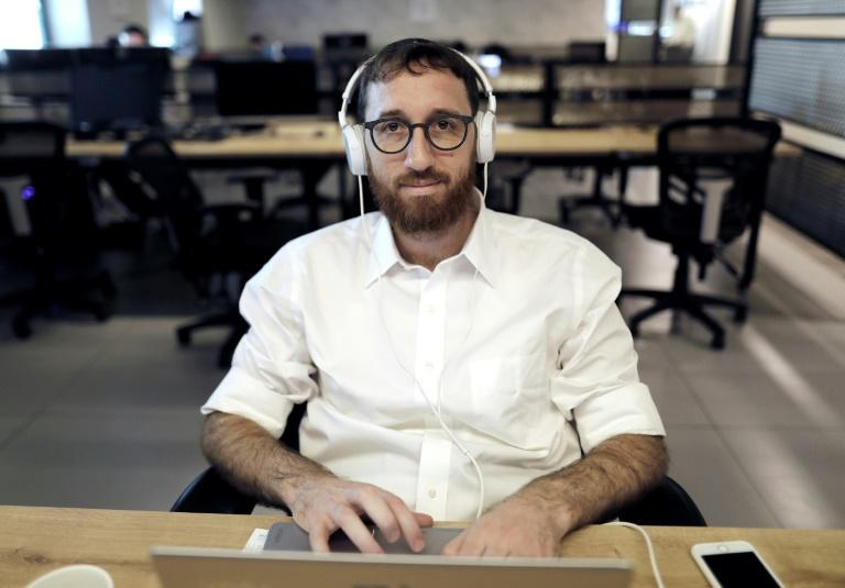 Yitzik Crombie founded Bizmax two years ago in the city where more than a third of the Jewish population is haredim