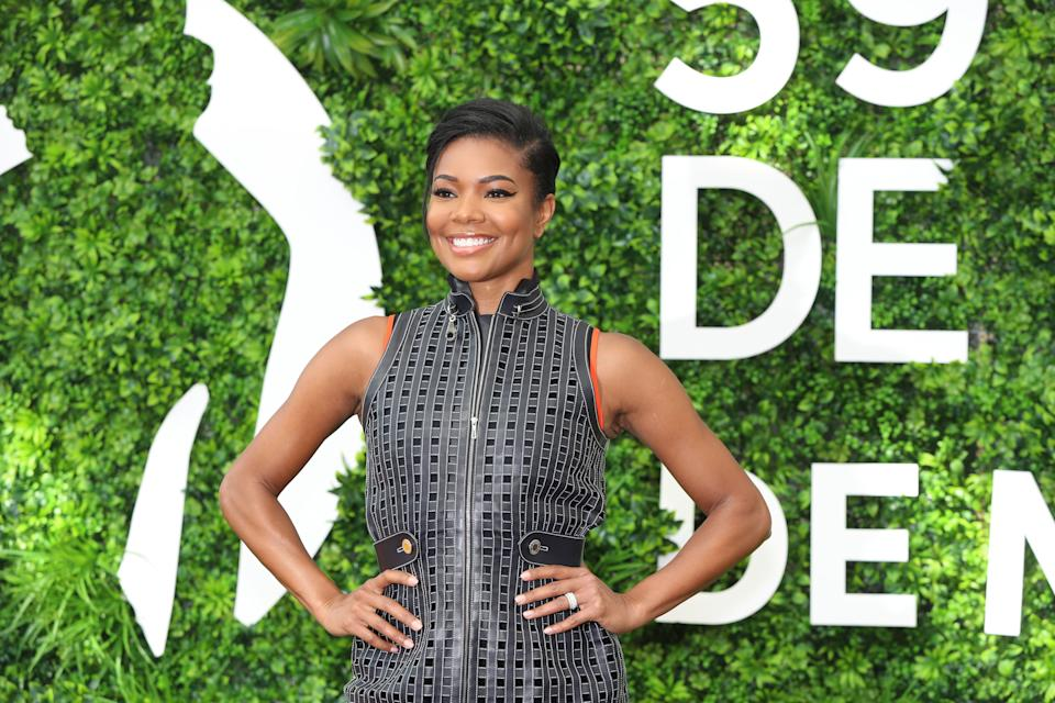 """US actress Gabrielle Union poses during a photocall for the TV show """"La's finest"""" as part of the 59th Monte-Carlo Television Festival on June 15, 2019 in Monaco. (Photo by VALERY HACHE / AFP)        (Photo credit should read VALERY HACHE/AFP via Getty Images)"""