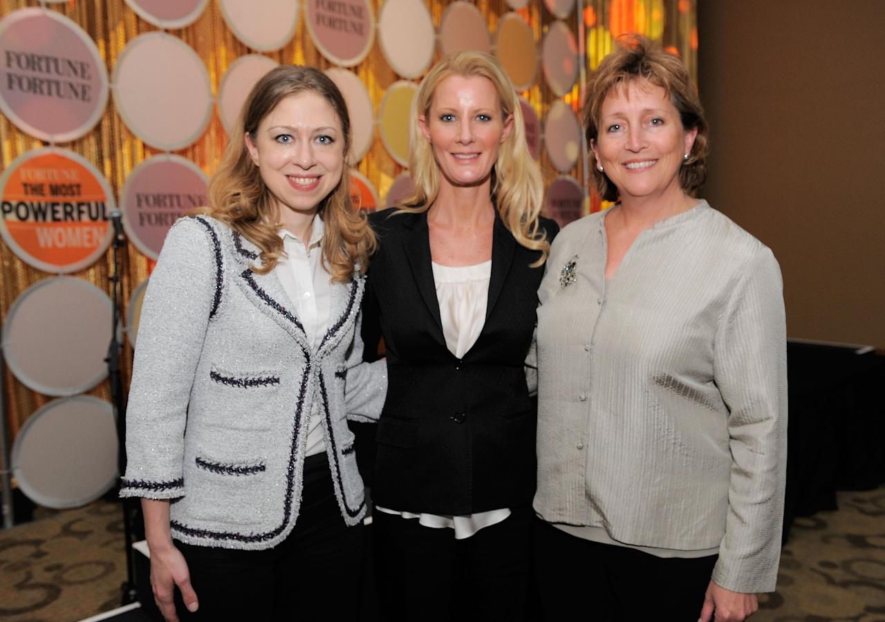 NEW YORK, NY - MAY 24:  (L-R) Chelsea Clinton, Sandra Lee and Susan Chambers attend FORTUNE Most Powerful Women Dinner New York City at Hudson Room at the Time Warner Center on May 24, 2011 in New York City.  (Photo by Jemal Countess/Getty Images for Time Inc.)