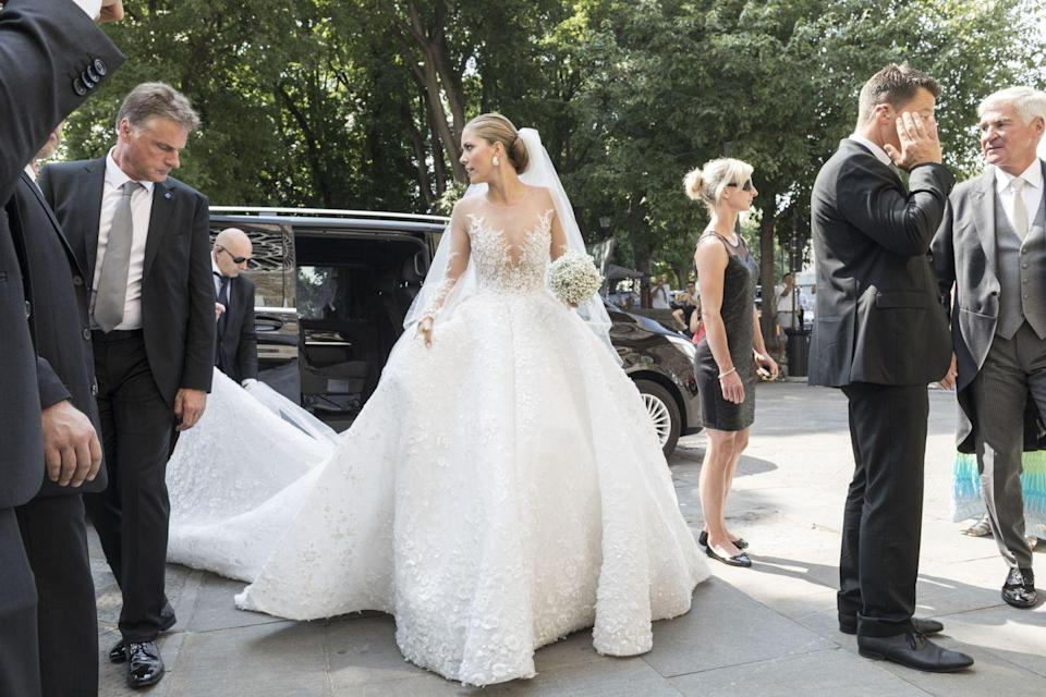 """<p>Heiress to the Australian crystal jewellery empire married Werner Mürz<span class=""""redactor-invisible-space""""> this weekend in Trieste, Italy. She wore a dress made by Dubai-based designer Michael Cinco<span class=""""redactor-invisible-space"""">.</span></span></p>"""