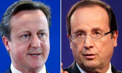 Cameron Holds First UK Talks With Hollande