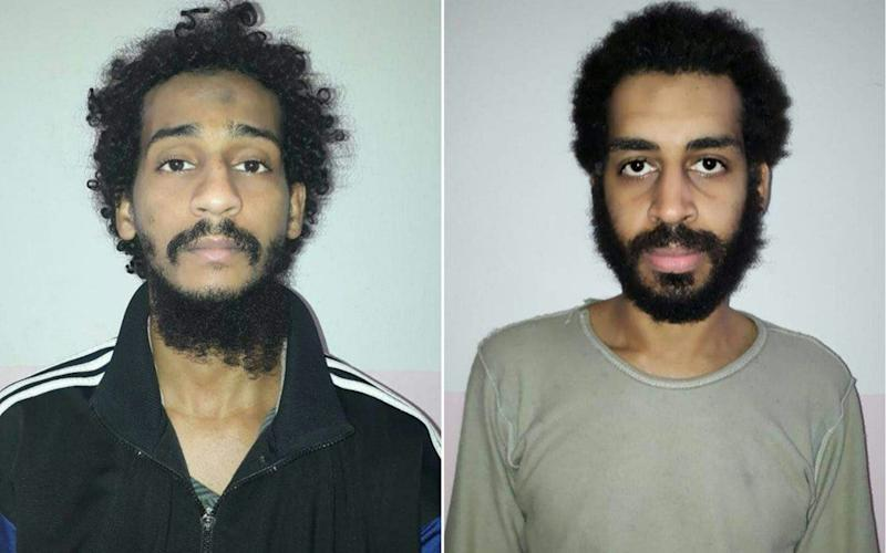 El Shafee el-Sheikh (L) and Alexanda Kotey (R) in photos provided by the SDF in February 2018 - AFP