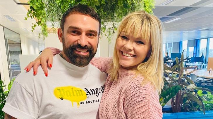 Ant Middleton, pictured with host Kate Thornton, appears on the latest episode of White Wine Question Time