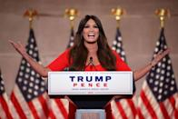 """<p>Guilfoyle frequently raised her voice during her remarks, during which she presented an apocalyptic vision of what life would be like under the Democrats' """"socialist agenda."""" She called California—the state where she used to reside, and where her ex-husband Gavin Newsom is currently the Governor—a """"land of discarded needles in parks.""""</p><p>""""They want to destroy this country and everything that we have fought for and hold dear,"""" she said of the opposing party. """"They want to steal your liberty, your freedom, they want to control what you see and think and believe so that they can control how you live.""""</p>"""