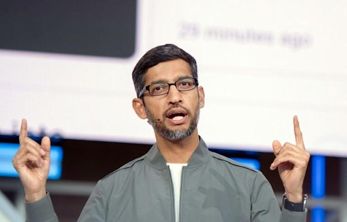 Sundar Pichai -- known for his soft-spoken demeanor -- will take on the role of CEO at Alphabet as well as maintaining the same position at its main operating unit Google (AFP Photo/Josh Edelson)
