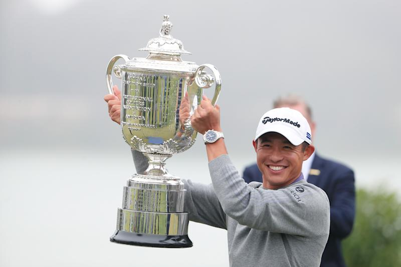 Collin Morikawa triumphs at the PGA Championship. (Photo by Tom Pennington/Getty Images)