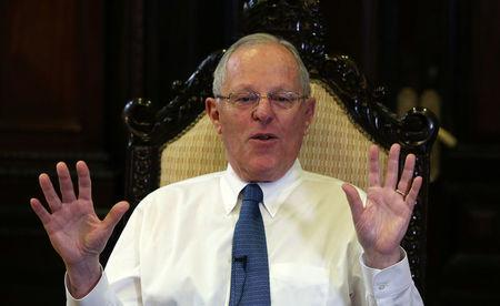 FILE PHOTO: Peru's President Pedro Pablo Kuczynski speaks during an interview at the Reuters Latin American Investment Summit in Lima