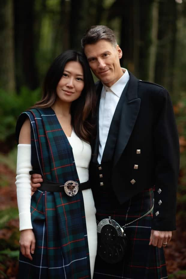 The wedding of former Vancouver mayor Gregor Robertson, left, and Eileen Park was featured in Vogue Magazine last week. (Mathias Fast Photography - image credit)