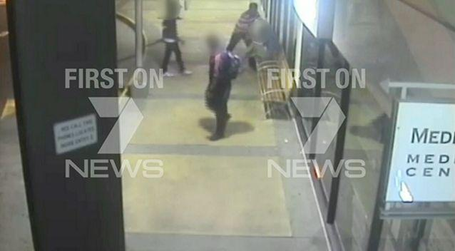 CCTV of the attack on the diasbled pensioner. Source: Seven News