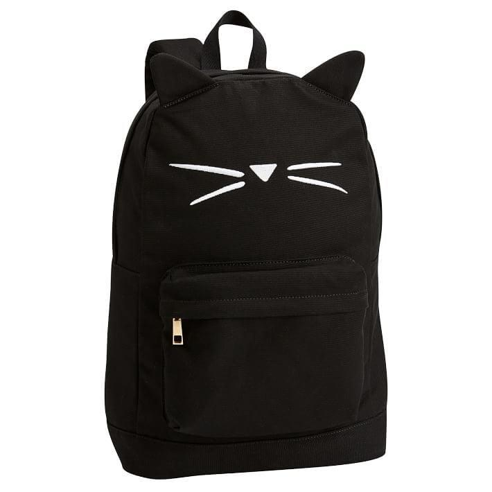 <p>This <span>The Emily & Meritt Black Cat Shape Backpack</span> ($80-$100) is totally subtle but super adorable.</p>