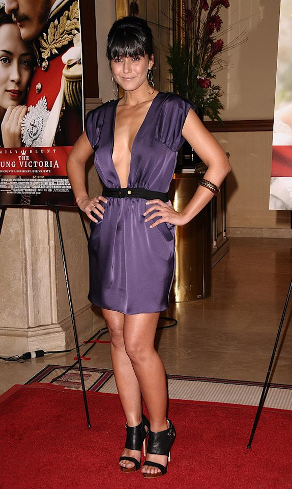 """<a href=""""http://movies.yahoo.com/movie/contributor/1800353397"""">Emmanuelle Chriqui</a> at the Los Angeles premiere <a href=""""http://movies.yahoo.com/movie/1809924173/info"""">The Young Victoria</a> - 12/03/2009"""