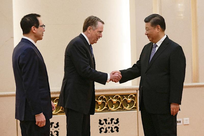 """US Trade Representative Robert Lighthizer told Chinese President Xi Jinping that """"we have additional work to do, but we are hopeful"""" (AFP Photo/Andy Wong)"""