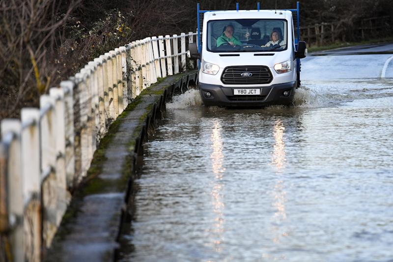 Flooding in the West Midlands as the village of Offchurch, Warwickshire, encounters heavy rain. Saturday 14th December 2019. Photo credit should read: Jacob King/PA Wire (Photo by Jacob King/PA Images via Getty Images)
