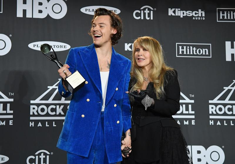 Harry Styles and Stevie Nicks in 2019 (Getty Images)