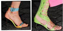 <p>Tevas and mules and kitten heels, oh my! These are the most outrageous and lust-worthy shoes storming the SS22 runways this fashion week.</p>