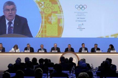 FILE PHOTO: International Olympic Committee (IOC) President Thomas Bach attends the 132nd IOC session in Pyeongchang, February 6, 2018. REUTERS/Kim Hong-Ji
