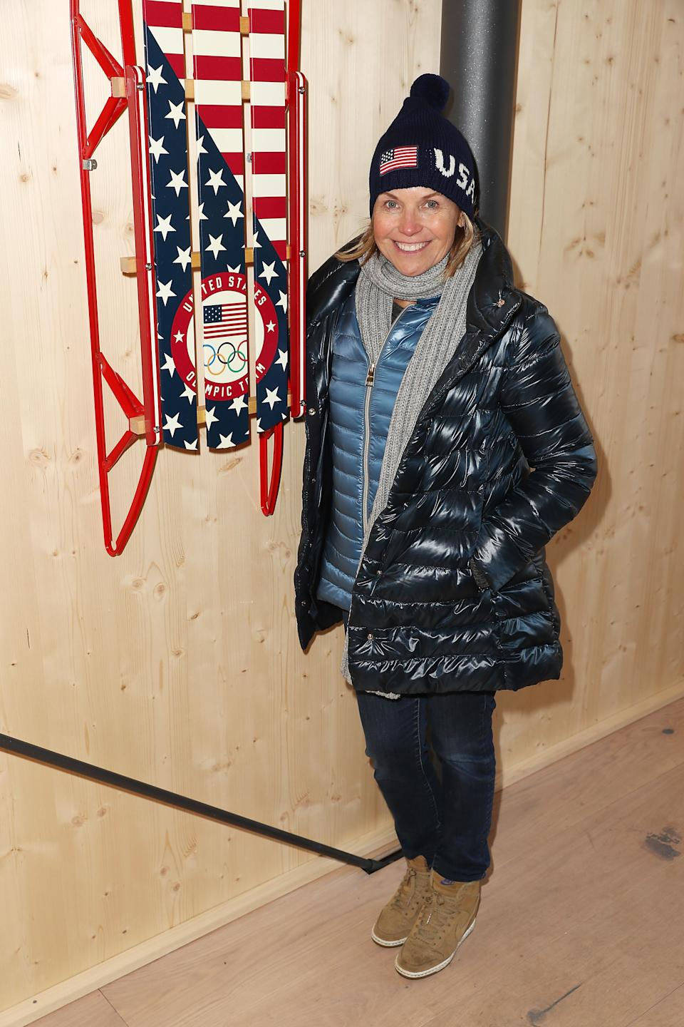 PYEONGCHANG-GUN, SOUTH KOREA – FEBRUARY 10: Katie Couric poses for a photo at the USA House at the PyeongChang 2018 Winter Olympic Games. (Getty Images)