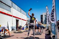 """<p>At the end of the Open, competitors not only get to move on in the competition, but 5th to 1st place athletes are <a href=""""https://s3.amazonaws.com/crossfitpubliccontent/CrossFitGames_Rulebook.pdf"""" rel=""""nofollow noopener"""" target=""""_blank"""" data-ylk=""""slk:given cash prizes"""" class=""""link rapid-noclick-resp"""">given cash prizes</a> ranging from $5,000 to $15,000.</p>"""