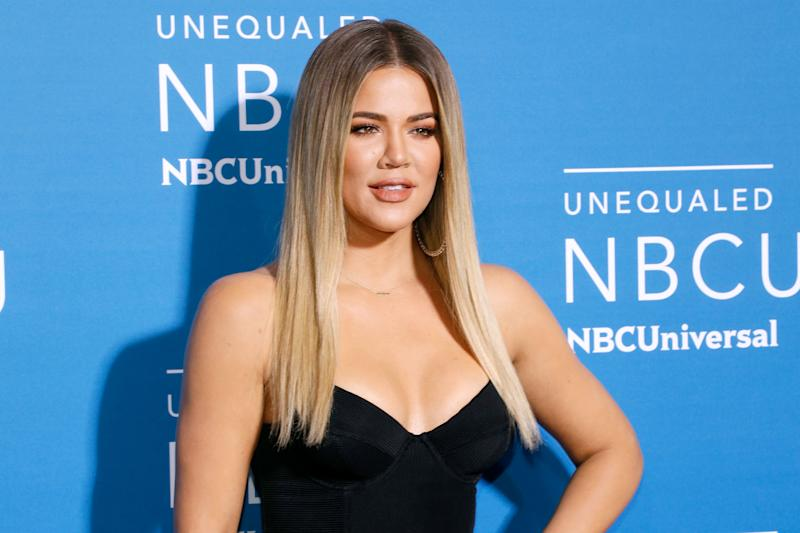 Khloe Kardashian showed off a brand-new hair color. (Photo: Getty Images)