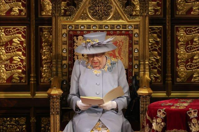 The Queen outlines the Government's legislative programme for the coming parliamentary session