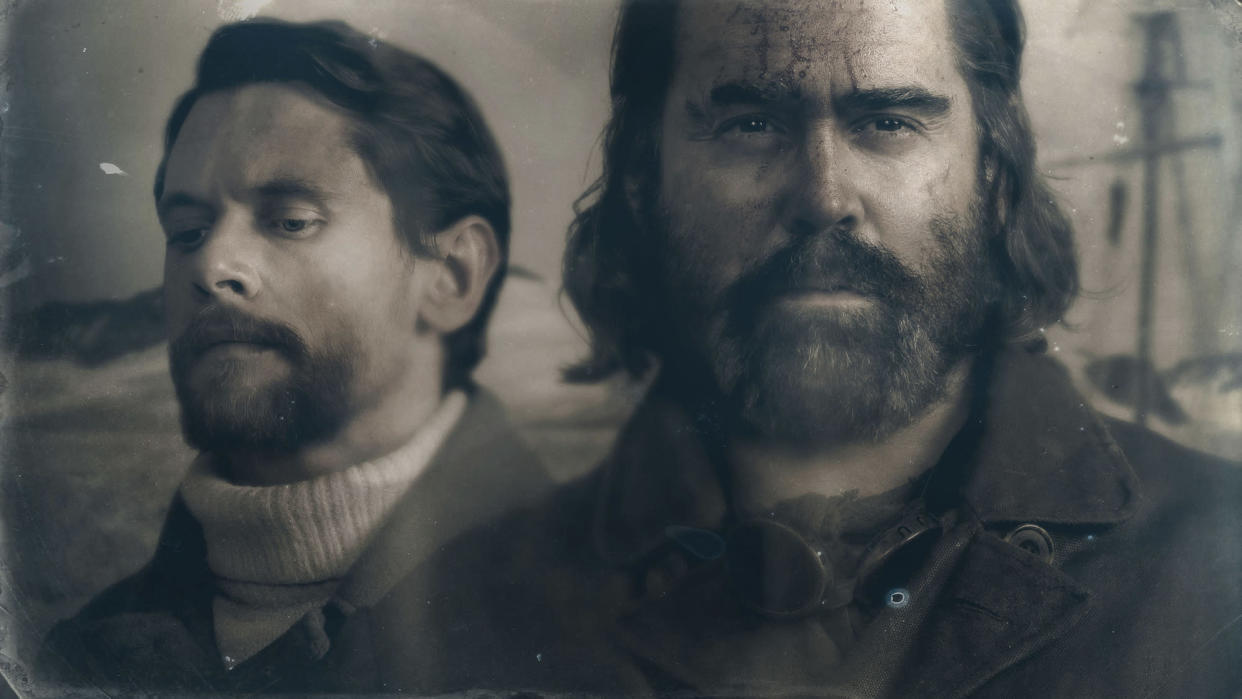 Programme Name: The North Water - TX: n/a - Episode: n/a (No. n/a) - Picture Shows:  Patrick Sumner (JACK O'CONNELL), Henry Drax (COLIN FARRELL) - (C) See-Saw Films - Photographer: Katalin Vermes