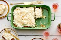 """Good thing this cake serves a crowd—the creamy key lime topping will have everyone coming back for seconds. <a href=""""https://www.epicurious.com/recipes/food/views/coconut-key-lime-sheet-cake?mbid=synd_yahoo_rss"""" rel=""""nofollow noopener"""" target=""""_blank"""" data-ylk=""""slk:See recipe."""" class=""""link rapid-noclick-resp"""">See recipe.</a>"""