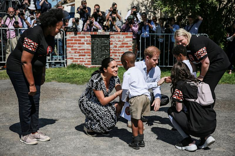 Príncipe Harry e Meghan Markle na África do Sul (Foto: Betram Malgas/AFP/Getty Images)