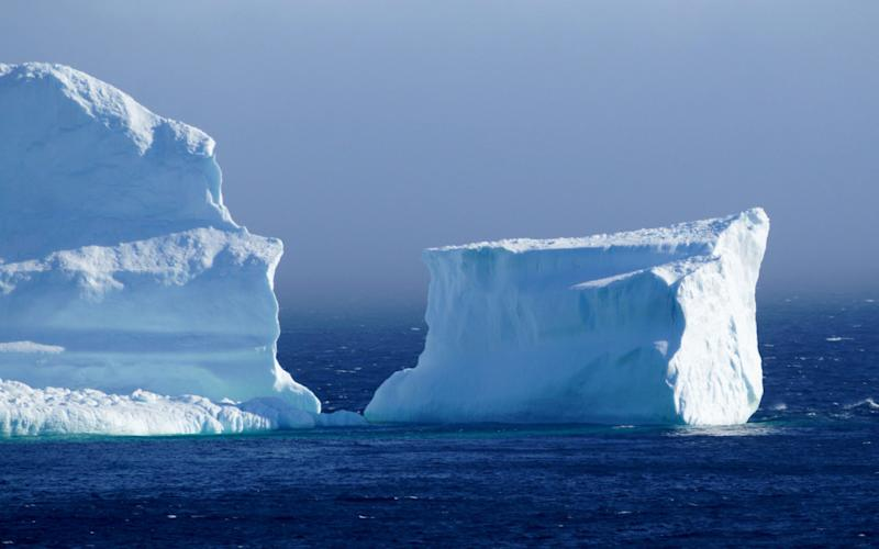 The first iceberg of the season passes the South Shore of Newfoundland - Credit: Reuters