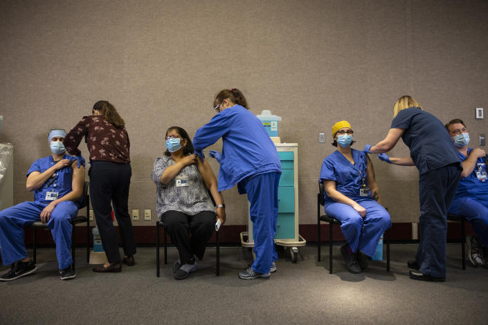 Health care workers are vaccinated