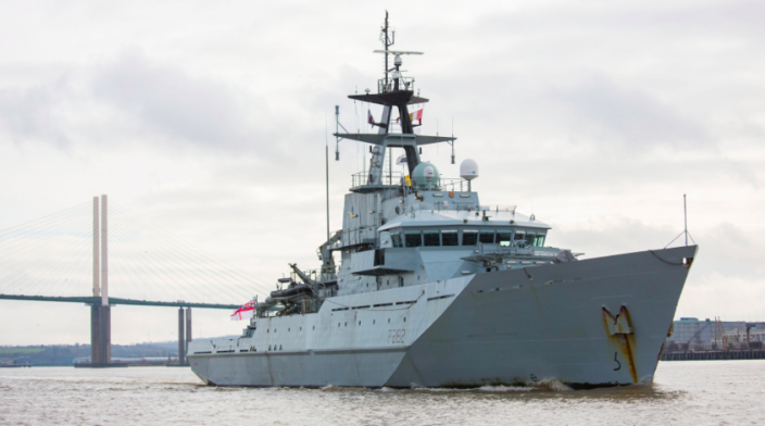 The HMS Severn is one of two Royal Navy vessels sent to patrol Jersey. (Ministry of Defence)