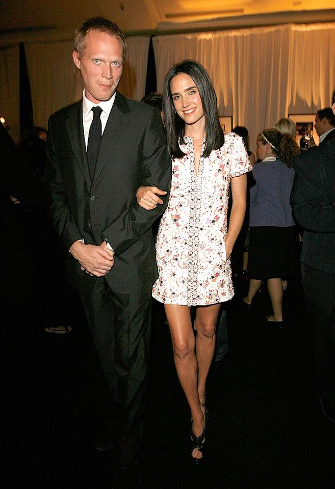 "Paul Bettany is proud as punch of his gorgeous wife, Jennifer Connelly, who was also applauded by Elle for her work in film. Donato Sardella/<a href=""http://www.wireimage.com"" target=""new"">WireImage.com</a> - October 15, 2007"