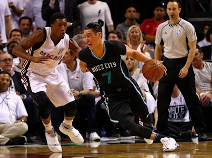 Jeremy Lin may be the odd free agent out in Charlotte. (Getty Images)