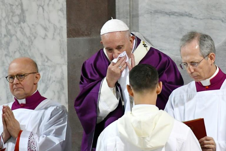 Pope Francis has remained largely secluded at his residence since coming down with a cold late last month