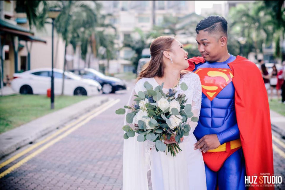 The idea came from the groom, who wanted to surprise the bride. (Photo: Huz Studio)