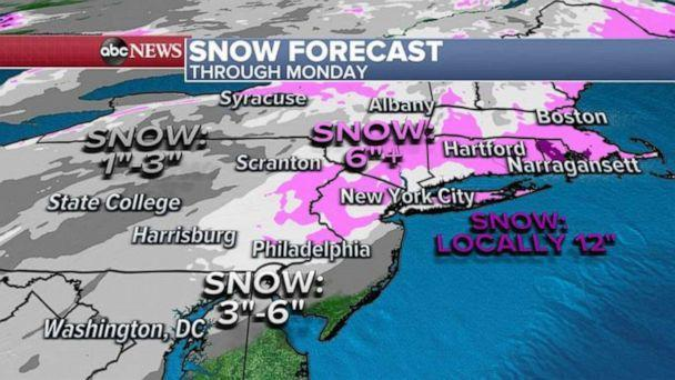 PHOTO: A winter storm will bring significant snowfall to the Northeast, Feb. 6, 2021. (ABC News)