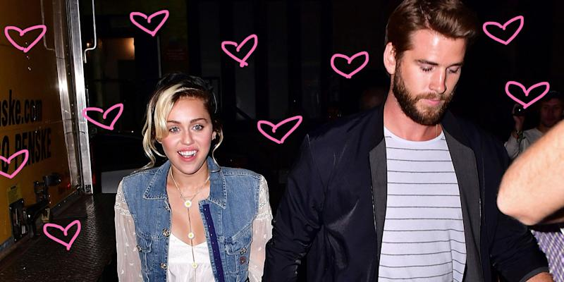 Photo credit undefined  sc 1 st  Yahoo & Miley Cyrus and Liam Hemsworthu0027s Hilarious u002780s Couple Costume is ...